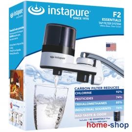 Φίλτρο νερού βρύσης από την Instapure με λευκό κορμό και διάφανο καπάκι INSTAPURE F2 (F6CE)