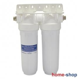 Φίλτρο νερού DP 10'' ΔΙΠΛΟ 1/2'' κάτω πάγκουATLAS FILTRI λευκό