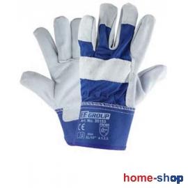 Γάντια Δερματοπάνινα FF group Μπλε