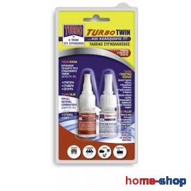 Κόλλα ταχείας συγκολλήσεως και γεμιστικό κόλλας TURBO-TWIN