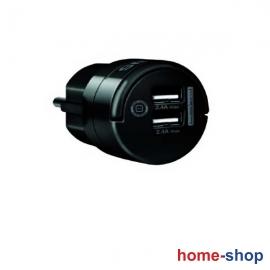 Φορτιστής Τηλεφώνου SAS Μαύρος με 2 USB