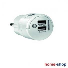 Φορτιστής Τηλεφώνου SAS Λευκός με 2 USB