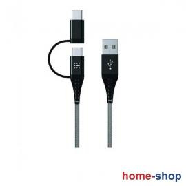 Καλώδιο  1,2μ SAS USB 2in1 Type C & Micro