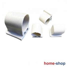 Πλαστικό Πέλμα Τραπεζιών Λευκό Φ32mm